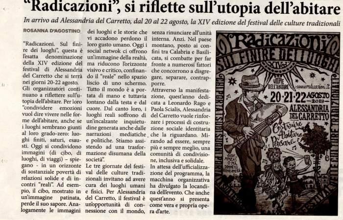 Rosanna D'Agostino articolo